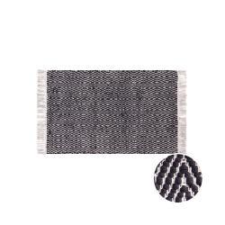 ETHNO LODGE Koberec káry 60 x 90 cm - černá/přírodní
