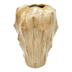 Pískově hnědá keramická váza PT LIVING Flora, výška 23,5 cm