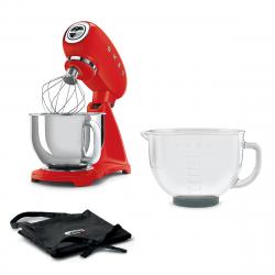 Kuchyňský robot Smeg Retro Style 50´s, červený, Gourmet edice, SMF43RDEU