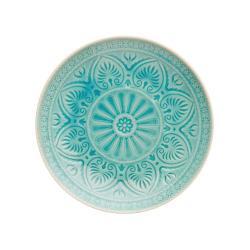 SUMATRA Sada talířů 25 cm 4 ks - tyrkysová