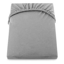 Šedé elastické prostěradlo DecoKing Nephrite, 220–240 cm