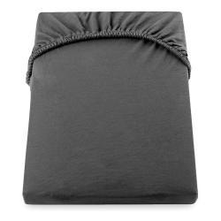 Tmavě šedé elastické prostěradlo DecoKing Nephrite, 220–240 cm