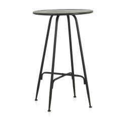 Černý kovový barový stolek Geese Industrial Style, výška 100 cm