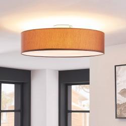 Lindby Stropní osvětlení Sebatin, s LED E27, 50 cm, hnědé