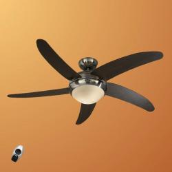 CASAFAN Moderní stropní ventilátor Elica, chrom a wenge