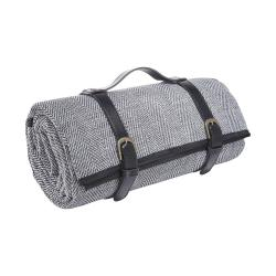WANDERLUST Pikniková deka 150 x 200 cm - černá/bílá