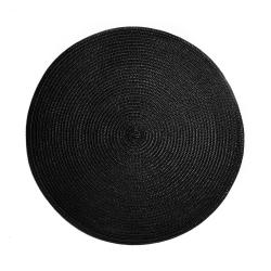 AMBIENTE Prostírání 38 cm set 6 ks - černá
