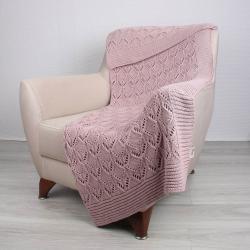 Růžový bavlněný přehoz Jennifer,130x170cm