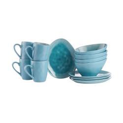 DE LA ROYA Snídaňový set nádobí 12 ks - modrá