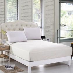 Krémové bavlněné elastické prostěradlo EnLora Home Orme Penye Cream, 160 x 200 cm
