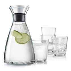 Set Karafa s drip-free okrajem + 4 sklenice