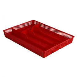 Altom Plastový příborník děrovaný 31 x 23 x 4,5 cm, červená