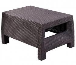 DEOKORK Zahradní ratanový stolek CORFU (hnědá)