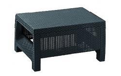 DEOKORK Zahradní ratanový stolek CORFU (antracit)