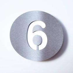 Absolut/ Radius Domovní číslo Round z nerezu - 6