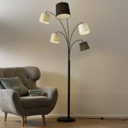 By Rydéns By Rydéns Foggy stojací lampa, 5 stínidel, černá