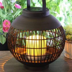 Globo LED solární světlo lucerna koule výška 30,5cm