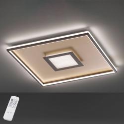 FISCHER & HONSEL LED stropní světlo Bug čtvercové, rezavá 40x40cm