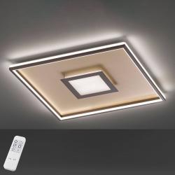FISCHER & HONSEL LED stropní světlo Bug čtvercové, rezavá 60x60cm