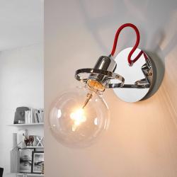 Ideallux Designové nástěnné světlo Radio v chromu