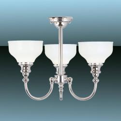 Elstead Koupelnové stropní světlo Cheadle 3 žárovky