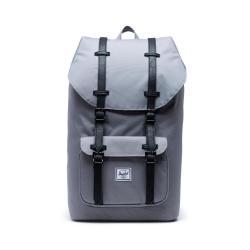 Šedý batoh s černými popruhy Herschel Little America, 25 l