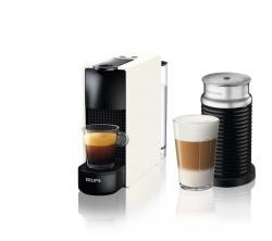 Kávovar na kapsle KRUPS Essenza Mini White & Aeroccino  + 14 nespresso kapslí ZDARMA