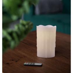 LED svíčka s dálkovým ovládáním DecoKing Drip, výška 12,5 cm