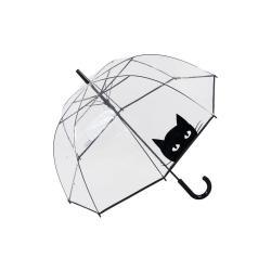 Transparentní větruodolný deštník Ambiance Looking Cat, ⌀ 85 cm