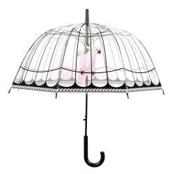 Transparentní větruodolný deštník Ambiance Birds, ⌀31cm