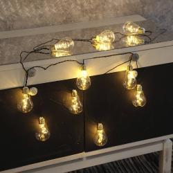 Best Season LED světelný řetěz Glow, sklo, bílý