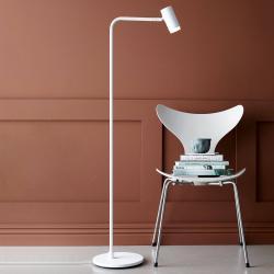 BELID Stojací lampa LED Cato Q se stmívačem, bílá