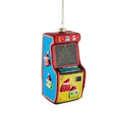 HANG ON Vánoční skleněná ozdoba hrací automat