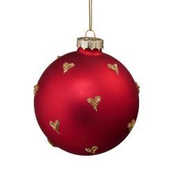 HANG ON Vánoční koule zlatá srdíčka