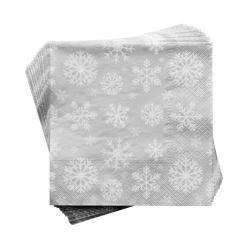 APRÉS Papírové ubrousky sněhová vločka 20 ks