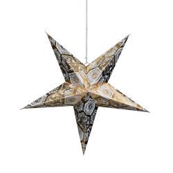 LATERNA MAGICA Papírová dekorační hvězda 60 cm - zlatá/bílá