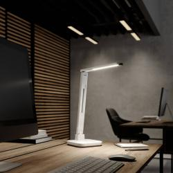 Arcchio Arcchio Libia LED stolní lampa QI nabíjení, bílá
