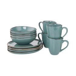 FINCA Snídaňový set nádobí 12 ks - modrá