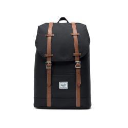 Černý batoh s hnědými popruhy Herschel Retreat, 19,5 l