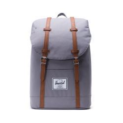 Šedý batoh s hnědými popruhy Herschel Retreat, 19,5 l