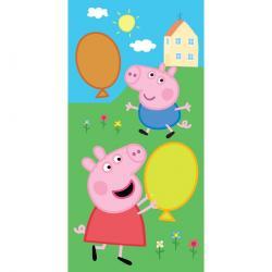 Tiptrade Dětský ručník Prasátko Peppa a George s balónky, 30 x 50 cm