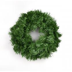 Umělý zelený věnec, 25 cm