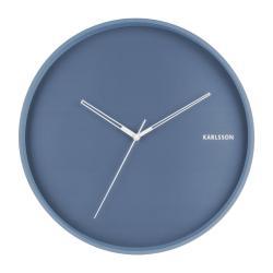 Modré nástěnné hodiny Karlsson Hue, ø 40cm