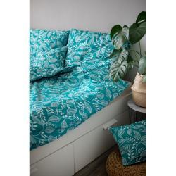 Zelené bavlněné povlečení Cotton House Teressa, 140 x 200 cm