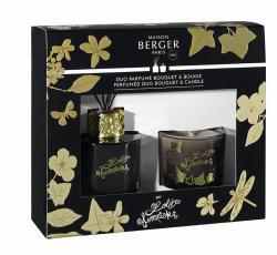 Maison Berger Paris dárková sada Duo Mini Lolita Lempicka: aroma difuzér s náplní 80 ml + vonná svíčka 80 g, černá