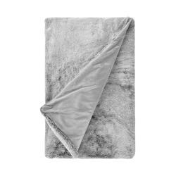 WILD THING Deka z umělé kožešiny 150 x 200 cm - šedá