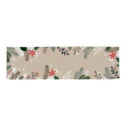 Bavlněný běhoun s vánočním motivem Butter Kings Frosted Branches,140x40cm