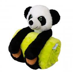 Babymatex Dětská deka Carol s plyšákem panda, 85 x 100 cm