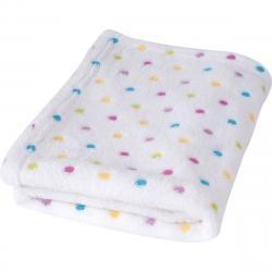 Babymatex Dětská deka Milly puntík bílá, 75 x 100 cm