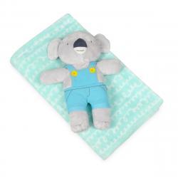 Babymatex Dětská deka tyrkysová s plyšákem koala, 75 x 100 cm